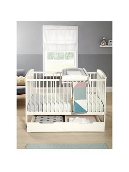 mamas-papas-hayworth-cot-bed-under-drawer-and-cot-top-changer-white