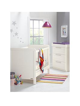 mamas-papas-rialto-cot-bed-and-dresser-ivory