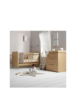 mamas-papas-rialto-cot-bed-and-dresser-oak