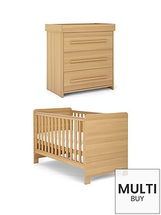 mamas-papas-haxby-cot-bed-and-dresser-oak