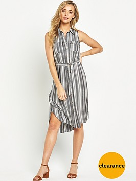 v-by-very-sleeveless-striped-utility-shirt-dress-with-belted-waist