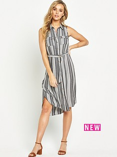 v-by-very-sless-utility-shirt-dress