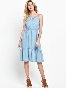 v-by-very-chambray-lace-up-dressnbsp