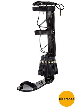 river-island-black-up-the-leg-tassel-flat-sandalnbsp