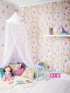 arthouse-woodland-fairies-glitter-wallpaper