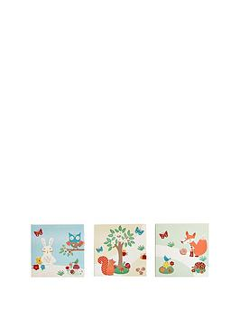 arthouse-set-of-3-forest-friends-canvases