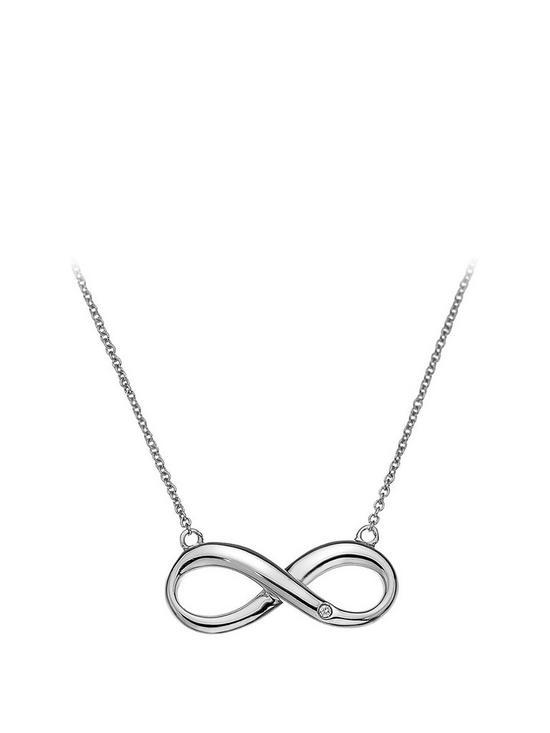 fbc904196319b Hot Diamonds Sterling Silver Infinity Necklace