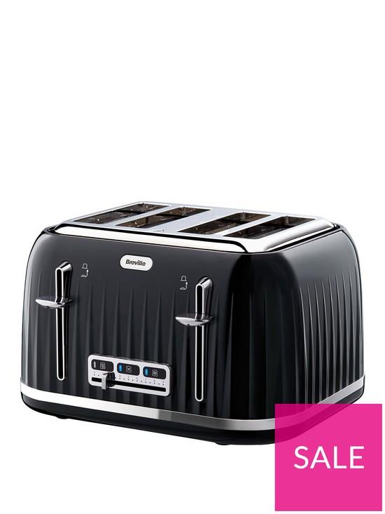 69ce10709bfb Breville VTT476 Impressions 4-Slice Toaster - Black | very.co.uk