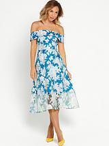 Full Skirted Bandeau Dress