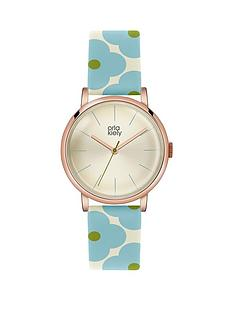 orla-kiely-orla-kiely-patricia-light-blue-amp-cream-flower-print-ladies-leather-strap-watch
