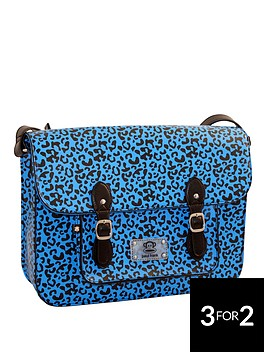 paul-frank-animal-print-satchel-blue