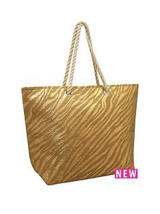 kangol-rope-handle-shopper-bag-zebra-print