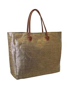 kangol-twing-handle-shopper-bag-gold