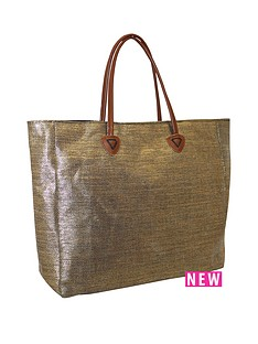 kangol-twing-handle-shopper-bag-gold