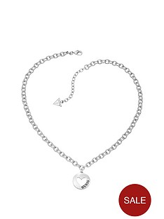 guess-g-girl-rhodium-plated-heart-drop-pendant