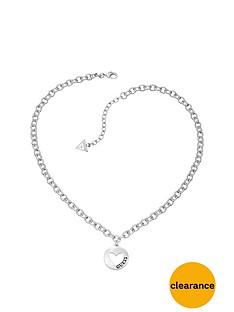 guess-g-girl-rhodium-plated-heart-drop-pendant