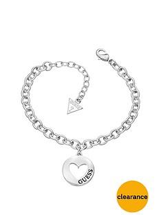 guess-g-girl-rhodium-plated-heart-drop-charm-bracelet