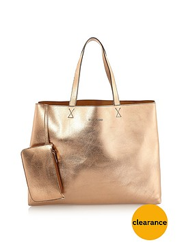 river-island-metallic-reversible-beach-bag-with-pouch