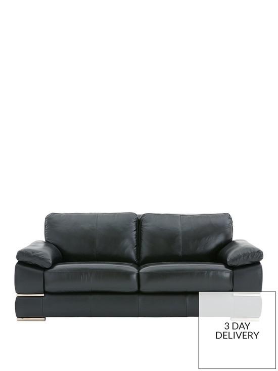 Primo Italian Leather 3 Seater Sofa | very.co.uk