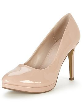 V By Very Maddy Mid Heel Platform Court Shoe