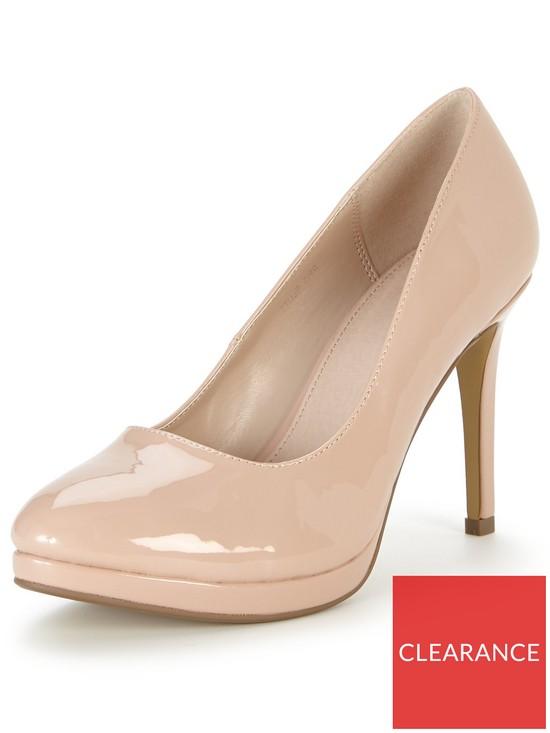 dda0b1cd4479 V by Very Maddy Mid Heel Platform Court Shoe