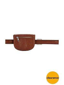 miss-selfridge-pu-purse-belt-tan