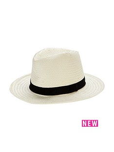 miss-selfridge-straw-fedora