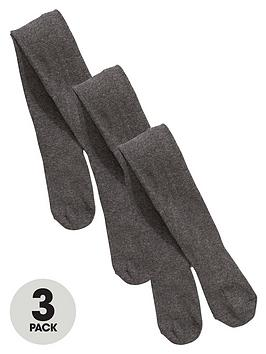 v-by-very-girls-flat-knit-school-tights-3-pack-grey