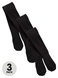 v-by-very-girls-flat-knit-tights-3-pack-black