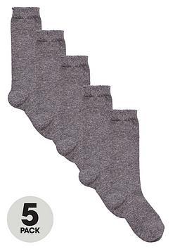v-by-very-girls-grey-knee-high-socks-5-pack