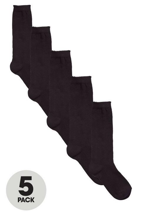 5618e3e4a V by Very Girls Knee High Socks 5 Pack - Black