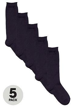 top-class-girls-navy-knee-high-socks-5-pack