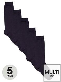 v-by-very-girls-navy-knee-high-socks-5-pack