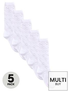 v-by-very-girls-knee-length-filetnbspstitch-socks-5-pack