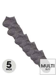 v-by-very-unisex-grey-trainer-liner-socks-5-pack