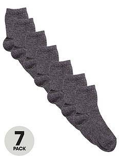 v-by-very-unisex-7-pack-school-ankle-socks-grey