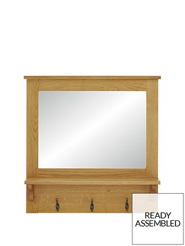 luxe-collection-london-oak-ready-assembled-hallway-mirror-with-shelf-and-hooks