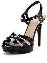 Hamilton Patent Platform Ankle Strap Sandals