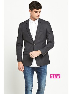 river-island-charcoal-check-skinny-fit-jacket