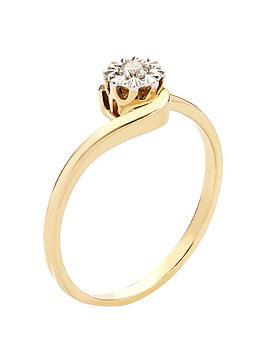 love-diamond-9-carat-yellow-gold-5-point-diamond-illusion-twist-solitaire-ring