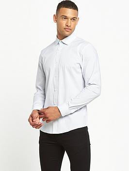 river-island-slim-fit-dobby-printed-shirt