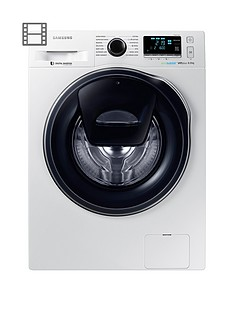 Samsung WW80K6610QW/EU 8kg Load, 1600 Spin AddWash™ Washing Machine with ecobubble™ Technology - White