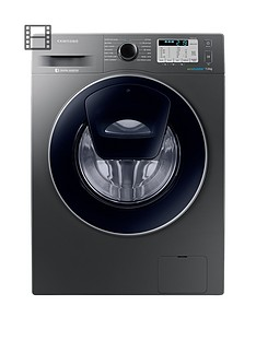 Samsung WW70K5413UX/EU 7kg Load, 1400 Spin AddWash™ Washing Machine with Ecobubble™ Technology - Graphite