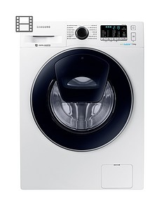 Samsung WW70K5410UW/EU 7kg Load, 1400 Spin AddWash™ Washing Machine with ecobubble™ Technology - White