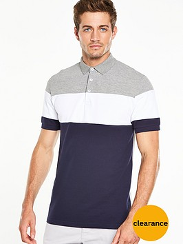 v-by-very-colour-block-pique-polo-top