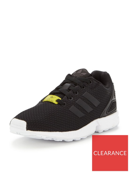 0fb9a24c2cbff adidas Originals ZX Flux Childrens Trainer - Black White