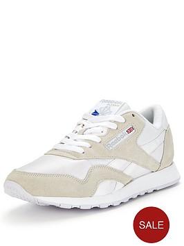 reebok-classicnbspnylon-fashion-trainer-whitegrey