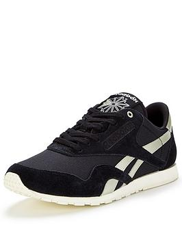 reebok-classic-nylon-slim-metallic-fashion-trainer-blacksilver