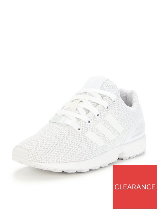 3a4ecdd0a0aa adidas Originals ZX Flux Childrens Trainer - White