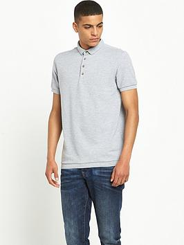 river-island-short-sleeved-textured-polo-shirt